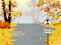 Autumn highway,  landscape Stock Images