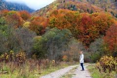 Autumn hike Rila Bulgaria stock photography