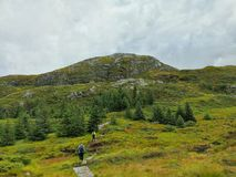 Autumn Hiking royalty free stock image