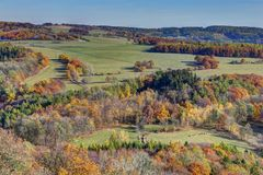 Autumn hill side Royalty Free Stock Photos