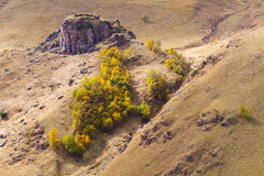 Autumn hill slopes Stock Images