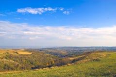Autumn hills. Sunny november day royalty free stock image