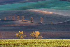 Autumn hills of Moravia. Czech Republic stock images