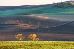 Autumn hills of Moravia. Czech Republic stock photography