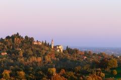 Autumn hills panorama, Italian landscape Royalty Free Stock Image
