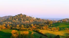 Autumn hills panorama, Italian landscape Stock Image
