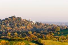 Autumn hills panorama, Italian landscape Royalty Free Stock Photo