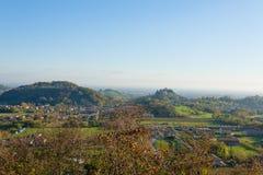 Autumn hills panorama, Italian landscape Stock Images