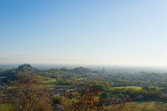 Autumn hills panorama, Italian landscape Royalty Free Stock Images