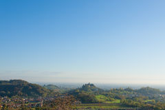 Autumn hills panorama, Italian landscape Stock Photo