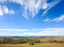 Autumn hilly country valley view Stock Photography