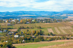 Autumn hilly country view Stock Photography