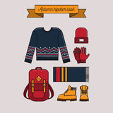 Autumn hipster look Royalty Free Stock Photo