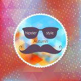 Autumn hipster style Mustache and Glasses. EPS 10 Royalty Free Stock Photos