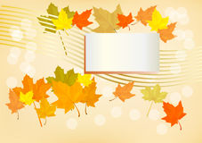 Autumn  holiday postcard Stock Images