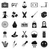 Autumn holidays icons set, simple style. Autumn holidays icons set. Simple set of 25 autumn holidays vector icons for web isolated on white background Stock Image