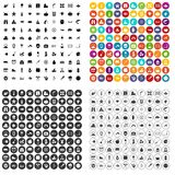 100 autumn holidays icons set vector variant. 100 autumn holidays icons set vector in 4 variant for any web design isolated on white Royalty Free Stock Images