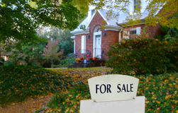 Autumn home sale Stock Image