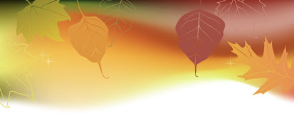 Autumn horizontal banner with a space for a text Royalty Free Stock Images