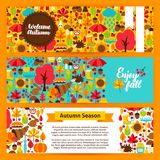 Autumn Horizontal Banners illustration de vecteur