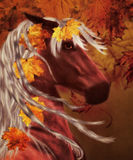 Autumn horse Royalty Free Stock Image