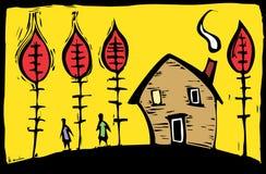 Autumn House Stock Image