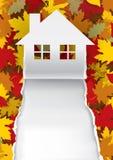 Autumn House-document achtergrond Stock Afbeelding
