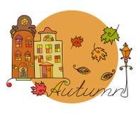 Autumn houses Stock Image