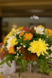 Autumn hues in a rustic bridal bouquet. Wedding arrangements, floral setting, accessories, concepts, details, ideas and themes, bride morning preparation Royalty Free Stock Images