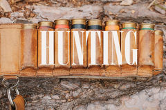 Autumn hunting season. Hunting Conceptual background. Outdoor sports. stock photography