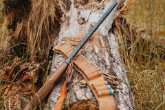 Autumn hunting season. Hunting Conceptual background. Outdoor sports. stock image
