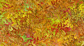 Autumn Ice. Icy window of fall colors Royalty Free Stock Photos