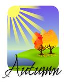 Autumn icon Royalty Free Stock Image