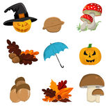 Autumn icon set Stock Images
