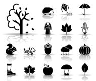 Autumn icon set royalty free illustration
