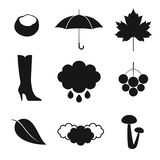 Autumn. Icon Set Stock Image