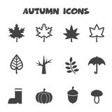 Autumn Icons Stock Afbeelding