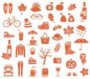 Autumn Icons Royalty-vrije Stock Foto