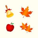 Autumn Icons Royalty-vrije Stock Afbeelding