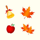 Autumn Icons Imagem de Stock Royalty Free
