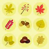 Autumn Icons illustration libre de droits
