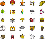 Autumn icons Royalty Free Stock Image