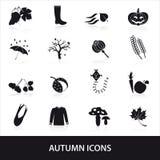 Autumn icons set eps10 Stock Image