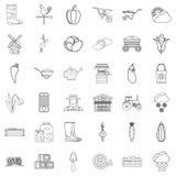 Autumn icons set, outline style. Autumn icons set. Outline style of 36 autumn vector icons for web isolated on white background Royalty Free Stock Image