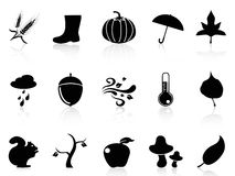 Autumn icons set Stock Photography