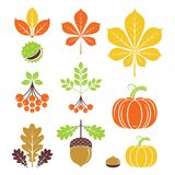 Autumn icons. Vector illustration. Autumn icons or logo in modern line style. Vector illustration on a white background stock illustration