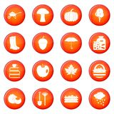 Autumn icons vector set Stock Photography