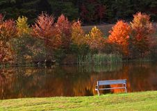 Autumn idyll. Autumn landscape in the Greenbrier State Park. Maryland Royalty Free Stock Photos