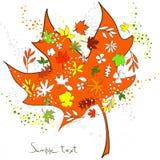 Autumn illustration. Or greeting card vector illustration