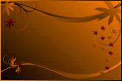 Autumn Illustration. Autumn vector illustration. Background orange gradient Stock Photography